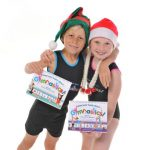This is an image of the two children that were our models in our Christmas Gymnastics Gifts package photo shoot.