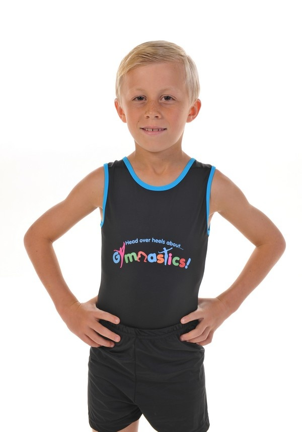 This is an image of our boys gymanstics leotard and shorts from our Christmas Gymnastics Gifts