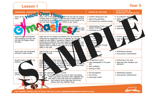 Year 3 Gymnastics Lesson Plans Download Head Over Heels