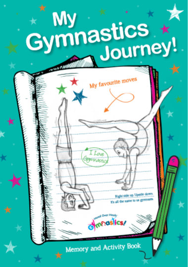 Front Cover of the Gymnastics Journal from Head Over Heels Gymnastics called My Gymnastics Journey