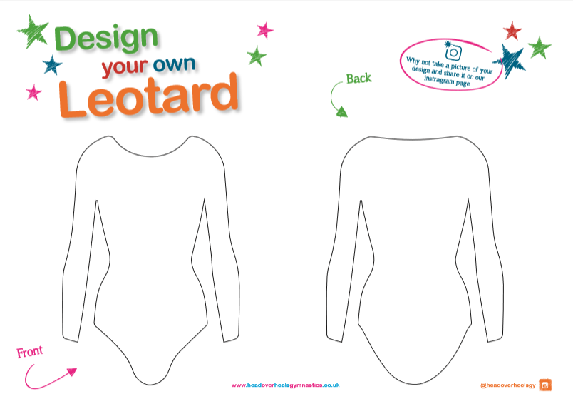 photograph relating to Worksheet Design referred to as Style Your Private Gymnastics Leotard For Ladies; Downloadable