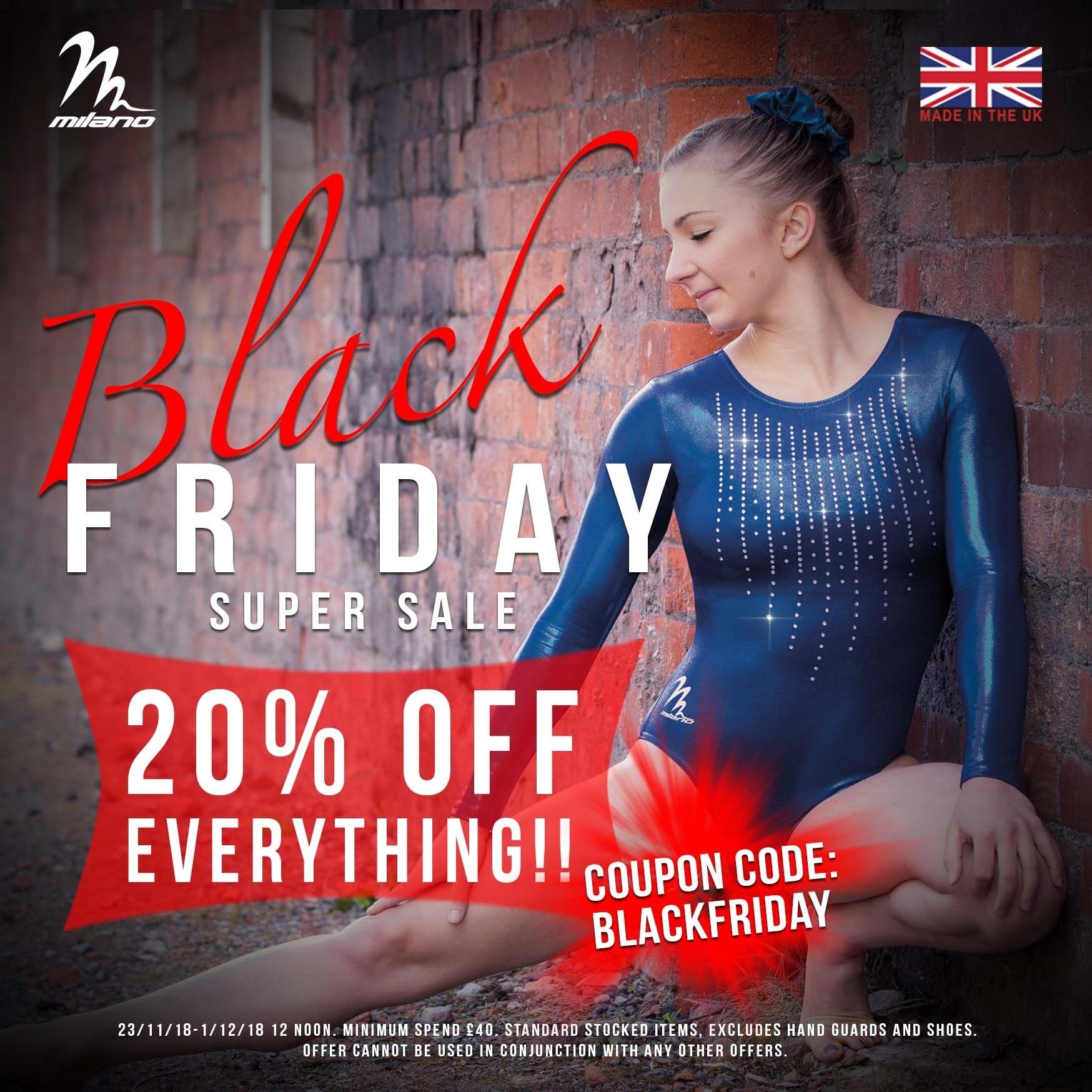 Milano Black Friday Head Over Heels Gymnastics Deals
