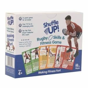 Shuffle Up Rugby Skills and Fitness Game the perfect present for players looking to work on staying match fit